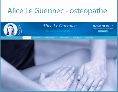 site Alice Le Guennec - osteopathe